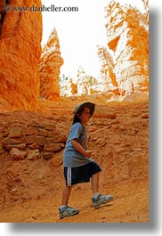 america, boys, bryce canyon, canyons, childrens, clothes, hats, hiking, jacks, north america, people, united states, utah, vertical, western usa, photograph