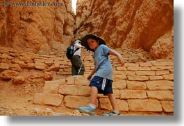 america, boys, bryce canyon, canyons, childrens, clothes, hats, hiking, horizontal, jacks, north america, people, united states, utah, western usa, photograph