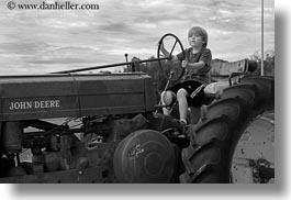 america, black and white, boys, bryce canyon, childrens, horizontal, jacks, north america, people, tractor, united states, utah, western usa, photograph