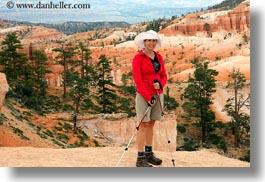 america, bryce canyon, clothes, hats, horizontal, julie, north america, people, united states, utah, western usa, womens, photograph