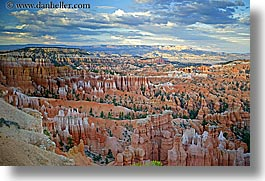 america, bryce, bryce canyon, canyons, clouds, horizontal, north america, scenics, united states, utah, western usa, photograph
