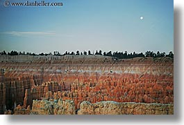 america, bryce, bryce canyon, horizontal, moon, moonrise, north america, scenics, united states, utah, western usa, photograph