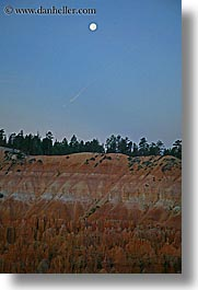 america, bryce, bryce canyon, moon, moonrise, north america, scenics, united states, utah, vertical, western usa, photograph