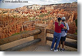 america, bryce canyon, couples, horizontal, looking, men, north america, scenery, scenics, united states, utah, western usa, womens, photograph