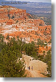 america, bryce canyon, canyons, hiking, north america, people, scenics, united states, utah, vertical, western usa, photograph