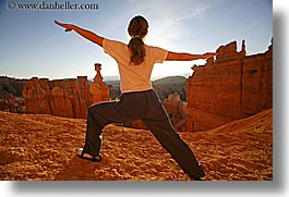 america, bryce canyon, horizontal, jills, morning, north america, united states, utah, western usa, womens, yoga, yoga positions, photograph