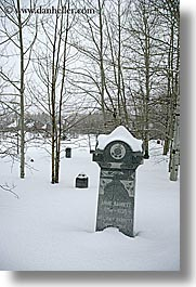 america, barrett, glenwood cemetery, graves, gravestones, north america, park city, snow, trees, united states, utah, vertical, western usa, william, photograph