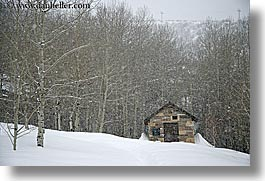 america, glenwood cemetery, graveyard, horizontal, huts, north america, park city, snow, trees, united states, utah, western usa, photograph