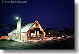 america, day spa, horizontal, houses, nite, north america, park city, salon, snow, united states, utah, western usa, photograph