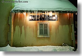 america, day spa, horizontal, houses, icicles, nite, north america, park city, salon, snow, united states, utah, western usa, photograph