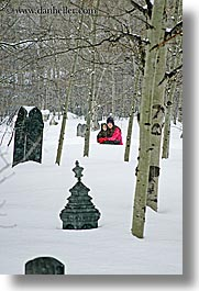 america, babies, boys, gravestones, jack and jill, jacks, mothers, north america, park city, snow, united states, utah, vertical, western usa, womens, photograph