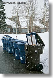 america, boxes, guitars, north america, park city, snow, trash, united states, utah, vertical, western usa, photograph