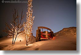 america, horizontal, nite, north america, park city, signs, snow, united states, utah, western usa, photograph