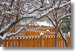 america, fences, horizontal, north america, park city, snow, united states, utah, western usa, photograph