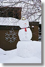 america, christmas, north america, park city, snow, snowman, united states, utah, vertical, western usa, photograph