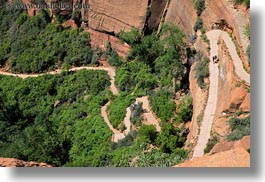 america, angels landing trail, hiking, horizontal, nature, north america, paths, twisting, united states, utah, valley, western usa, zion, photograph