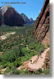 america, angels landing trail, cliffs, hiking, mountains, nature, north america, paths, twisting, united states, utah, valley, vertical, western usa, zion, photograph