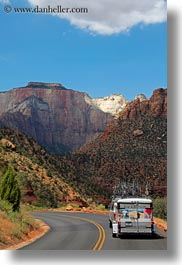 america, backroads, miscellaneous, north america, trailer, united states, utah, vertical, western usa, zion, photograph