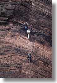 america, climbers, mountains, north america, united states, utah, vertical, western usa, zion, photograph