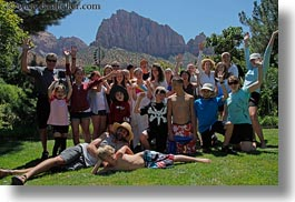 america, backroads, groups, horizontal, north america, people, tourists, united states, utah, western usa, zion, photograph