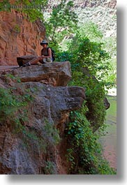 america, jills, ledge, lush, nature, north america, people, united states, utah, vertical, western usa, zion, photograph