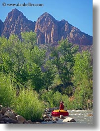 america, boys, childrens, inner, jacks, north america, people, river tubing, tube, united states, utah, vertical, western usa, zion, photograph