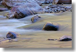 america, flowing, horizontal, north america, rivers, rocks, slow exposure, united states, utah, virgin river, western usa, zion, photograph