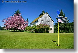 orcas island, barn, flag, american, washington, united states, photograph