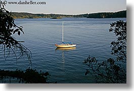 boat, orcas island, ocean, washington, united states, photograph