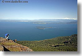 orcas island, expanse, view, boys, mountain, washington, united states, photograph