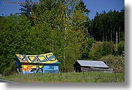 orcas island, colorful, barn, washington, united states, photograph