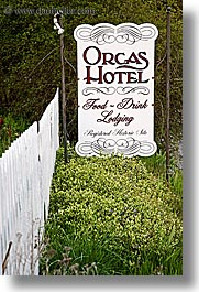 orcas island, orcas, sign, hotel, washington, united states, photograph