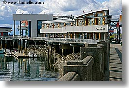 america, anthonys, buildings, clouds, harbor, horizontal, nature, north america, pacific northwest, restaurants, seattle, sky, united states, washington, water, western usa, photograph