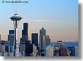 america, buildings, cityscapes, horizontal, north america, pacific northwest, seattle, space needle, structures, united states, washington, western usa, photograph