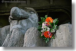 america, arts, flowers, fremont, horizontal, materials, north america, pacific northwest, sculptures, seattle, stones, troll, united states, washington, western usa, photograph