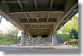 america, arts, bridge, fremont, horizontal, materials, north america, pacific northwest, sculptures, seattle, stones, troll, under, united states, washington, western usa, photograph