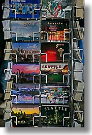 america, north america, pacific northwest, postcards, seattle, united states, vertical, washington, western usa, photograph
