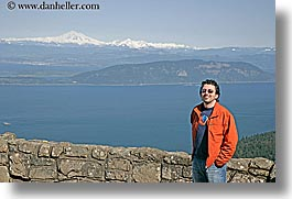 america, clothes, horizontal, materials, men, mountains, mt baker, nature, north america, ocean, pacific northwest, people, seattle, snowcaps, stones, sunglasses, united states, walters, washington, water, western usa, photograph