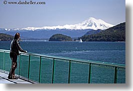 america, horizontal, men, mountains, mt baker, nature, north america, ocean, pacific northwest, people, seattle, snowcaps, united states, views, washington, water, western usa, photograph