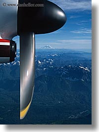 aerials, america, mountains, mt rainier, nature, north america, pacific northwest, perspective, propeller, seattle, snowcaps, united states, vertical, washington, western usa, photograph