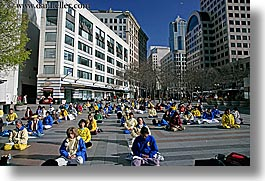 activities, america, buildings, cityscapes, crowds, days, falun, horizontal, north america, pacific northwest, people, protesting, seattle, sitting, structures, united states, washington, western usa, womens, photograph
