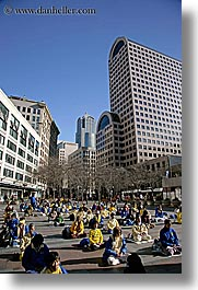 activities, america, buildings, cityscapes, crowds, days, falun, north america, pacific northwest, people, protesting, seattle, sitting, structures, united states, vertical, washington, western usa, womens, photograph