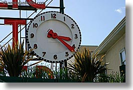 america, clocks, horizontal, north america, pacific northwest, pike place, seattle, united states, washington, western usa, photograph