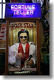 america, elvis, fortune, north america, pacific northwest, pike place, seattle, signs, teller, united states, vertical, washington, western usa, photograph
