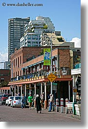 america, buildings, north america, pacific northwest, pike place, seattle, streets, united states, vertical, washington, western usa, photograph