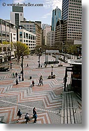 america, buildings, cityscapes, north america, pacific northwest, pedestrians, seattle, squares, streets, structures, united states, vertical, washington, western usa, photograph