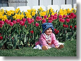 america, babies, childrens, flowers, girls, horizontal, nature, north america, pacific northwest, people, tulips, united states, washington, western usa, photograph