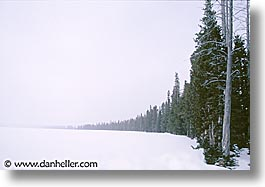 america, horizontal, jackson hole, north america, scenics, snow, united states, winter, wyoming, photograph