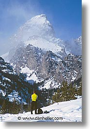 america, gaze, jackson hole, north america, scenics, snow, teton, united states, vertical, winter, wyoming, photograph