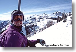 america, haley, horizontal, jackson hole, north america, skiers, snow, united states, winter, wyoming, photograph